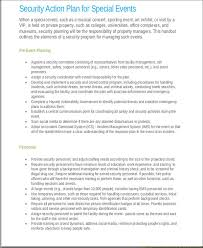 7 event action plan templates 7 free word pdf format download
