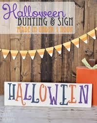 halloween bunting u0026 sign the happy scraps