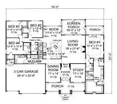 Impressive 4 Bedroom House Plans Single Story Open Floor Plans 15 Impressive Idea 4 Bedroom House