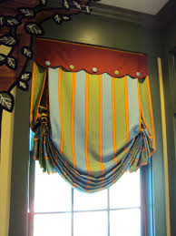bedroom window treatments southern living striped london shade with scalloped valance cute for boys room