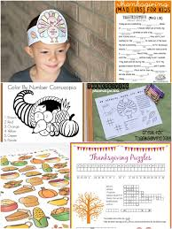 thanksgiving color by numbers 20 activities for thanksgiving day