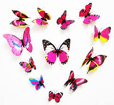 handsome stickers cute product 3d butterfly 12pcs wall stickers
