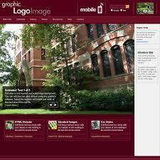 web templates academic burgundy