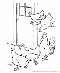 coloring page of a chicken chicken coloring pages chicken coloring pages and printable