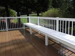 Decks With Benches Built In Low Maintenance Built In Deck Bench Using Azek And Aluminum