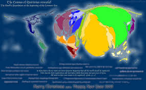 Cartogram Map World Population At The Birth Of Jesus Christ