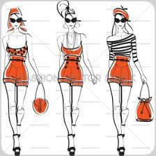 fashion sketch archives page 12 of 15 fashion vector stock