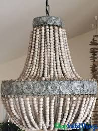 How To Decorate A Chandelier With Beads Confortable Wood Bead Chandelier On Inspirational Home Decorating