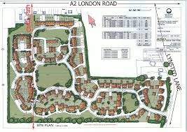 threats residents lynsted from pollution and urbanisation sketch plan for homes picture aerial view site