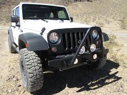 jeep front view olympic 4x4 wrangler front rock bumper w hitch textured black
