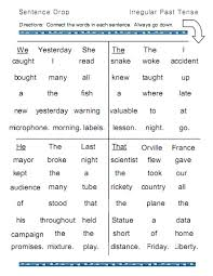 irregular past tense worksheets free worksheets library download