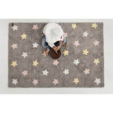 Pink Grey Rug Tricolor Stars Grey Pink Rug Twinkle Twinkle Little One