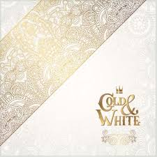 gold lace with white ornaments background vector 05 free vectors