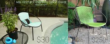 Mid Century Modern Patio Chairs Mid Century For Less Diy Tutorial For Painted Patio Chair