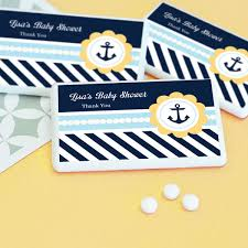 nautical baby shower favors nautical baby shower personalized mini mint favors