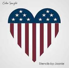 stars and stripes home decor patriotic stencil americana heart flag stars stripes country home
