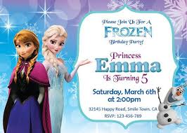 birthday invitation card frozen birthday invitations printable