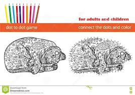 dot to dot game coloring and dot to dot educational game for