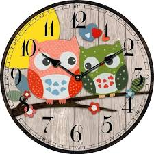 Vintage Wholesale Home Decor Wall Clock Owl Wall Clock With Moving Eyes Wholesale Bird Style