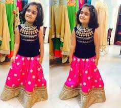 traditional style trendy kids lehenga choli dresses for 2016