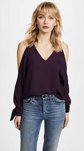 shoulder blouse line dot cold shoulder blouse shopbop