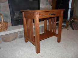 mission style end tables tom s mission style end table the wood whisperer