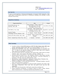 Resume Format For Design Engineer In Mechanical Pradip Loh Latest Cv