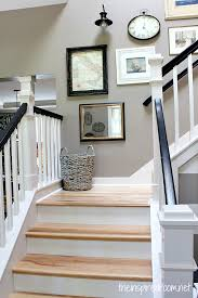 Staircase Makeover Ideas Hickory Hardwood Flooring And Staircase Makeover Wood Steps