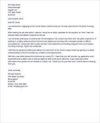 cover letter for social work job best social worker cover letter