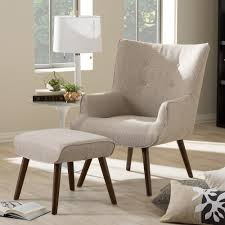 Fabric Armchairs And Ottomans Baxton Studio Nola Mid Century Inspired Beige Fabric Upholstered
