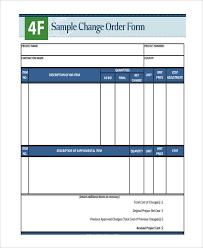 change order forms 9 free word pdf format download free