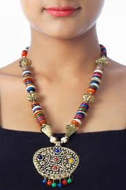 bead necklace with pendant images Bead necklaces pendants alluring multicoloured bead necklace jpg