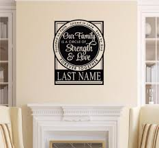 wall decals stickers home decor home furniture diy personalized family circle of strength love vinyl decal wall sticker words