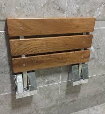 bench wall mounted folding bench seat wall mount teak folding