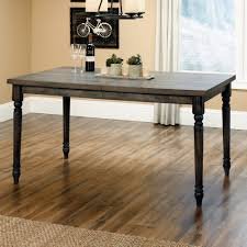amazon com weathered dining table in vintage gray finish tables