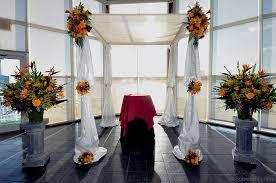 chuppah poles superior florist event florals ceremony