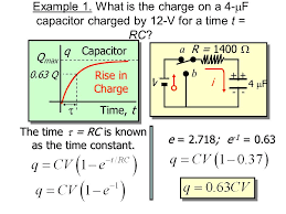 the time t rc is known as the time constant