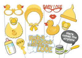 rubber duck baby shower rubber ducky baby shower photobooth party props set 16