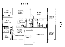 large 2 bedroom house plans winsome 3 large dining room house plans lovely ideas without