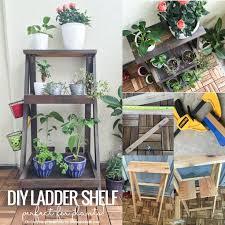 Diy Ladder Shelf Shelves Tutorials by Best 25 Plant Ladder Ideas On Pinterest Plants Plant Shelves