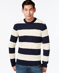 hilfiger sweater mens hilfiger mikey cable knit rugby stripe sweater sweaters