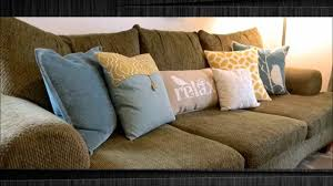 Pillows For Brown Sofa by 17 Stunning Accent Pillows For Sofa Youtube