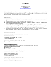 Special Education Resume Samples by Physical Education Teacher Resume Sample Resume For Your Job