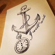 anchor and clock draw clocks