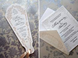 Wedding Ceremony Fans Ornate Letterpress Wedding Program Fans