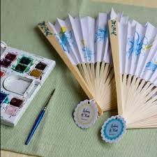 wedding fans favors favor friday paper fans weddings ideas from evermine