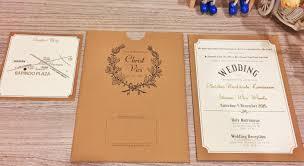 wedding invitations jakarta single cover design wedding invitation card