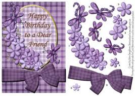 happy birthday dear friend purple quick card front cup159445 880