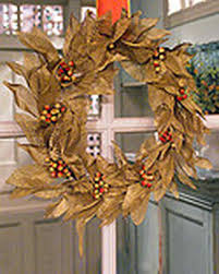 mesh leaf wreath martha stewart