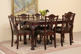 mahogany dining room set sold georgian style 1940 s mahogany dining set table 6 chairs